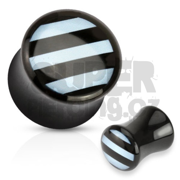 Plug do ucha 10mm pruhy