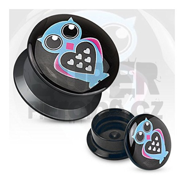 Plug do ucha 8mm sova